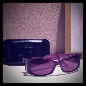 Fendi tortoise/purple sunglasses